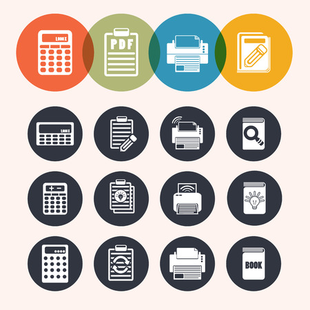 digital printing: collection Circle Series icons