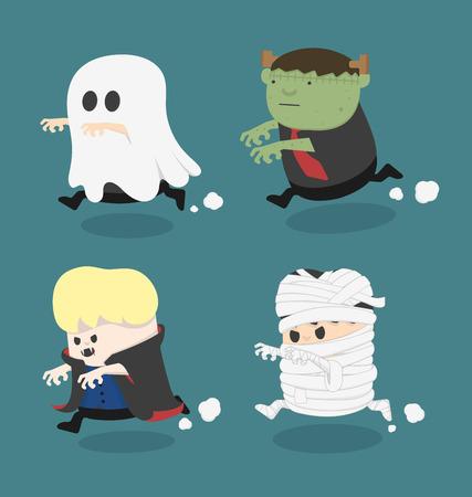 halloween costume: Halloween monster costume Illustration