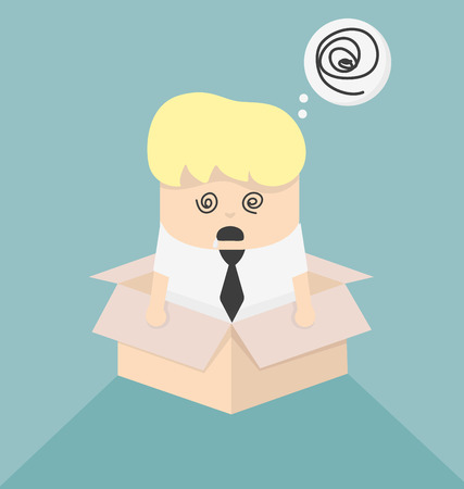 hypnotherapy: Concept image is confusing Illustration