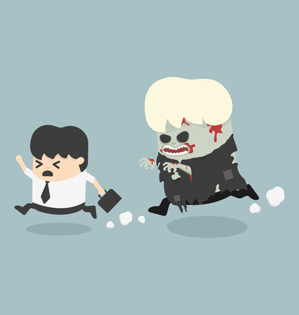 Escaping zombie Illustration
