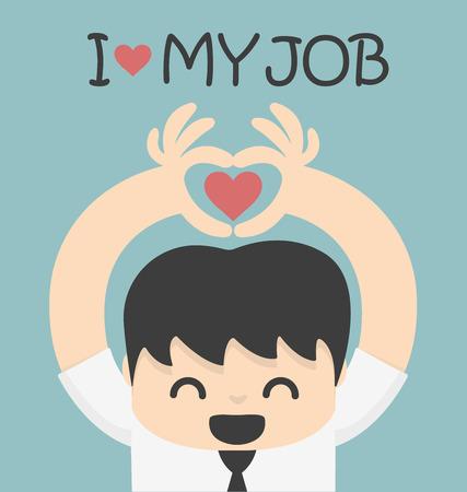 나는 나의 일을 사랑 일러스트