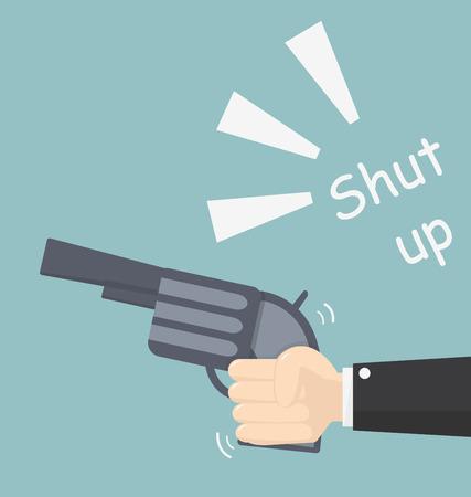 alarmed: shut up