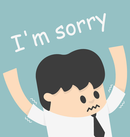 angry boss: i sorry boss Illustration
