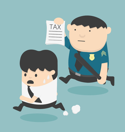 tax evasion: evasion tax Illustration