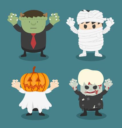 illustration of Halloween,front set 2 Stock Illustratie