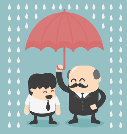 investor: businessman with umbrella Illustration