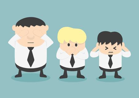see no evil: Three businessmen See no evil, hear no evil, speak no evil