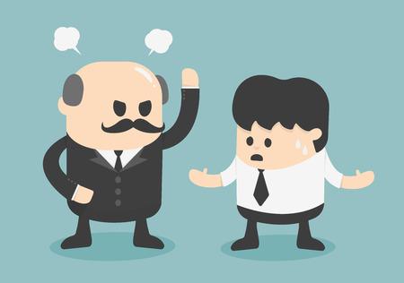jefe enojado: concepto jefe enojado