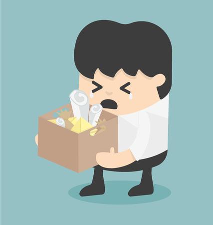 despido: Despido. Ilustraci�n de negocio