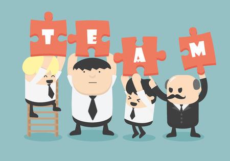 Geschäftsmann Teamarbeit, Vektor