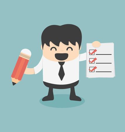 Geschäftsmann Abstimmung Illustration