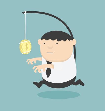 Bait business Cartoons concepts .vector