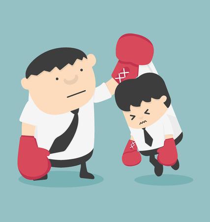 battu: Cartoons concepts de lutte contre la concurrence