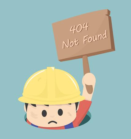 Seite nicht gefunden Fehler 404 Illustration