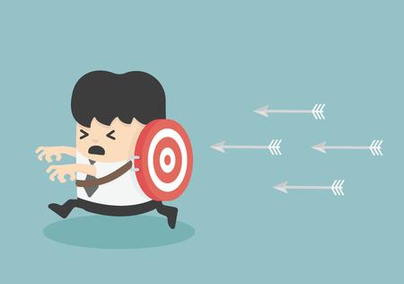 victims: target victim Business Illustration