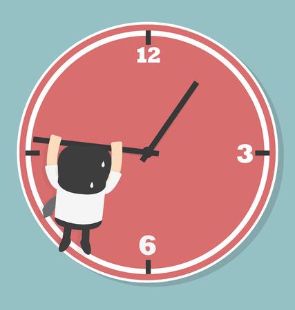 Les hommes d'affaires sont en baisse de la flèche du temps Illustration