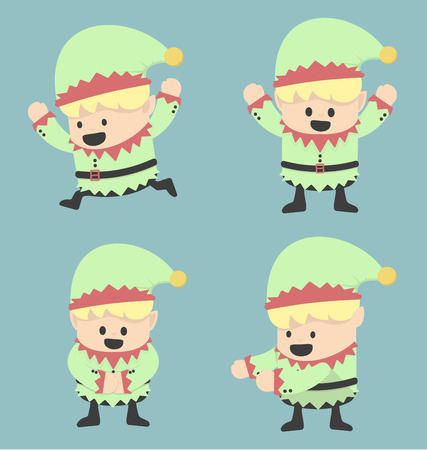 elves: Christmas Elves and different poses