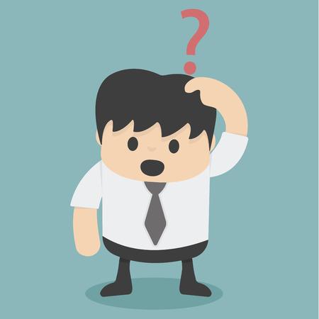 confundido: Empresario confundiendo