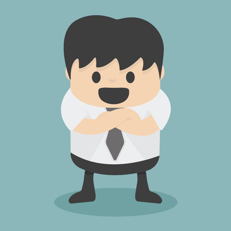 folded arms: Businessman with folded arms