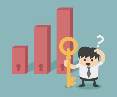 decision making invest Stock Illustratie