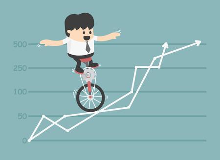 Homme d'affaires qui défie toutes les obstacles.eps Banque d'images - 35057871