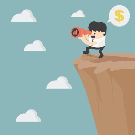 mirando: empresario busca en la inversi�n Vectores