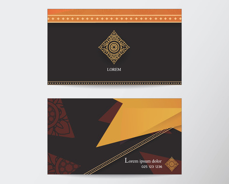 Thai style: card design template abstract creative Thai style