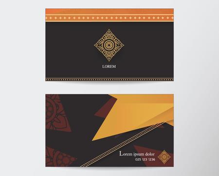 thai style: card design template abstract creative Thai style