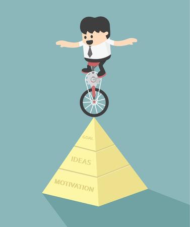 la stabilité de la réussite Illustration