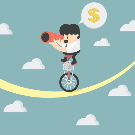 Geschäftsmann Balancing Illustration