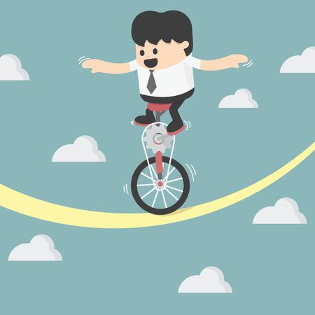 balancing: businessman balancing