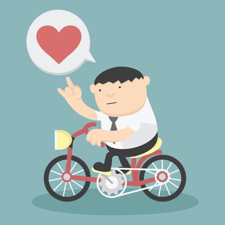 Geschäfts Radfahren Liebe zeigen Illustration