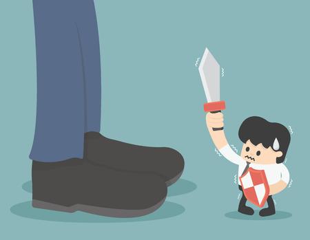 unfavorable: Decision Competition unfavorable Illustration