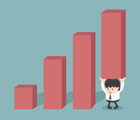 financial burden: growth of the financial burden Illustration