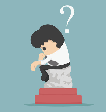a thinker: the thinker businessman Illustration