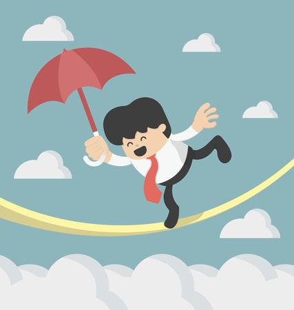 Cartoons Konzepte Risiko Illustration