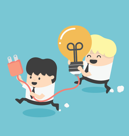 Teamwork Unterstützung Illustration