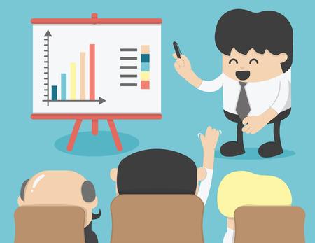 Zakelijke bijeenkomst, brainstormen