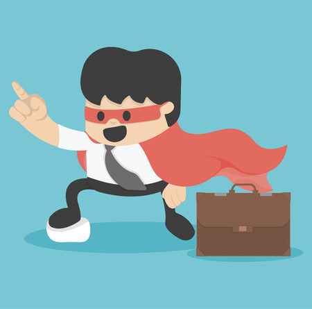 young  super Businessman Vector