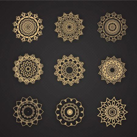 decor graphic: elementi di design grafico di design tailandese Vettoriali