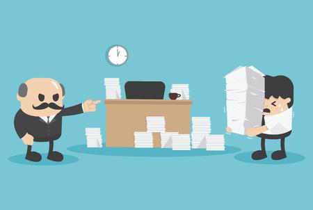 workload: concept business deadline Illustration