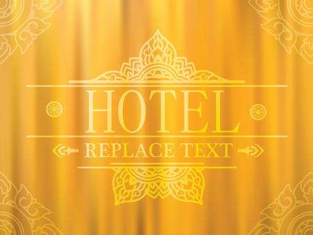 Logo template flourishes graphic thai design Hotel,Restaurant thai Illustration
