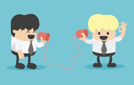 escuchar: Hombre de negocios hablando en un teléfono