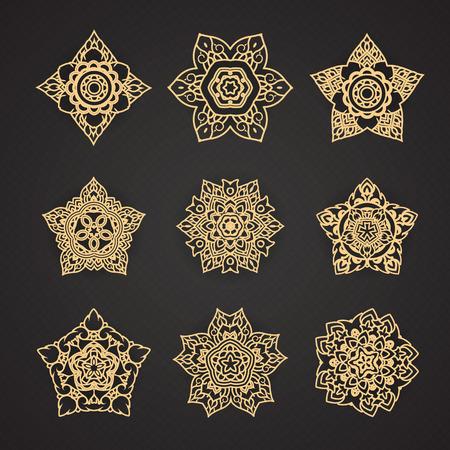Line Thai Pattern Vector set