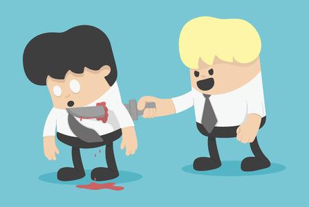 betrayal: the betrayal partnership on business Illustration