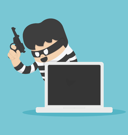 data theft: Thief with Computer