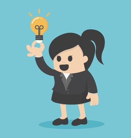 Business Woman get idea
