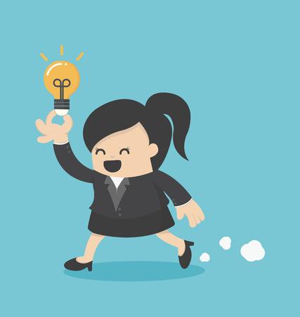 zakelijke vrouw: Business Woman Run Show idee Stock Illustratie