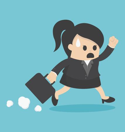 zakelijke vrouw: zakenvrouw laat voor het Werk