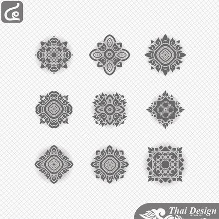 line thai: set of  Line thai art design Illustration